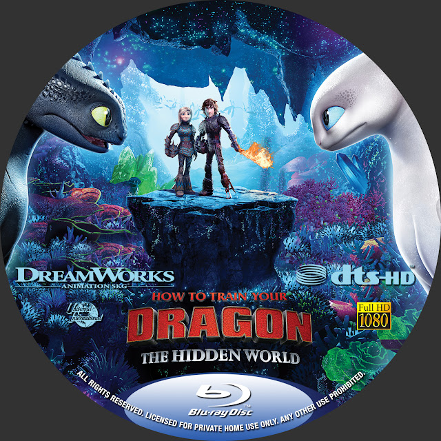 How to Train Your Dragon: The Hidden World Label Cover