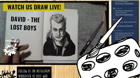Drawing Kiefer Sutherland aka David from the Lost Boys - Come Hang out !