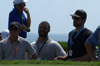 Green Bay Packers quarterback Aaron Rodgers at PGA Championship