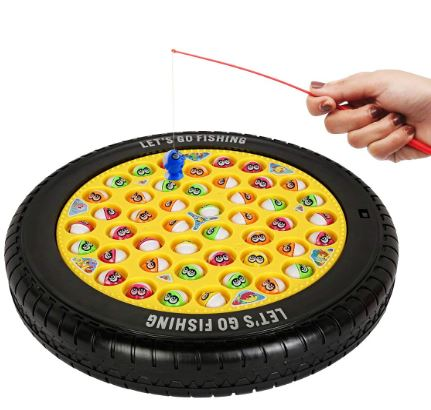 Webby Fishing Game Toy for kids to catch magnet fishes buy online (Multi-Color)