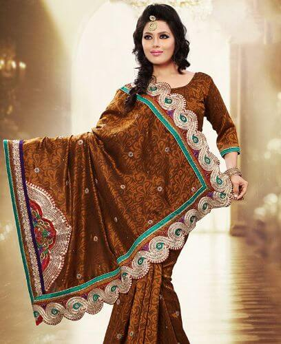 Gorgeous Brown Saree