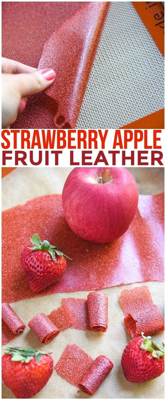 Strawberry Apple Fruit Leather Recipe