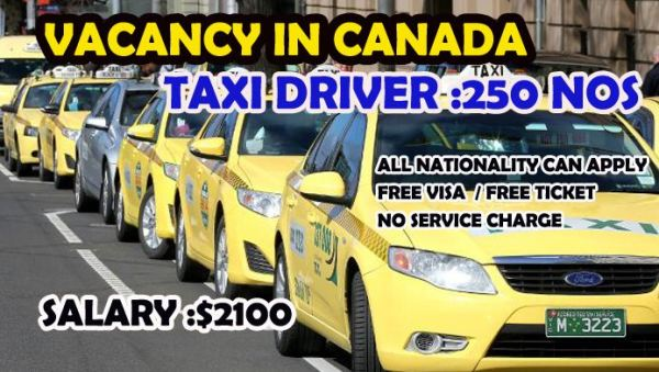 Apply For Taxi Driver Job Vacancy In Canada