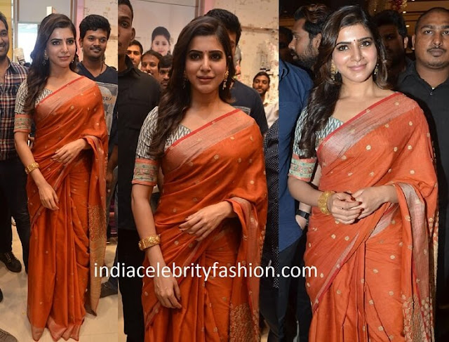 Samantha in Naturally Anuradha Saree