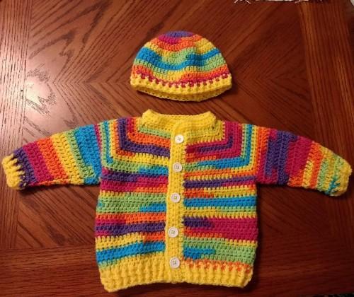 Top Down Baby Jacket - Free Pattern