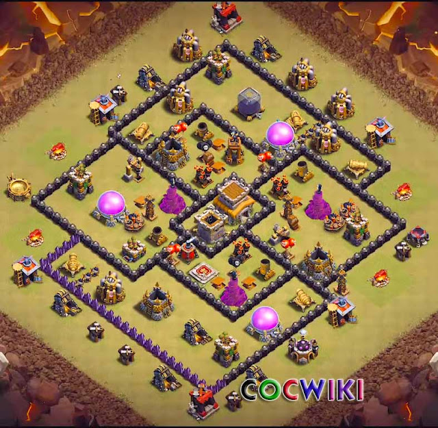 anti 3 stars war base design town hall 8