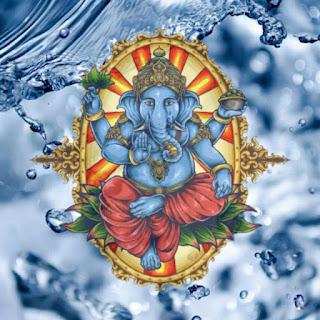 ganpati images in blue colour