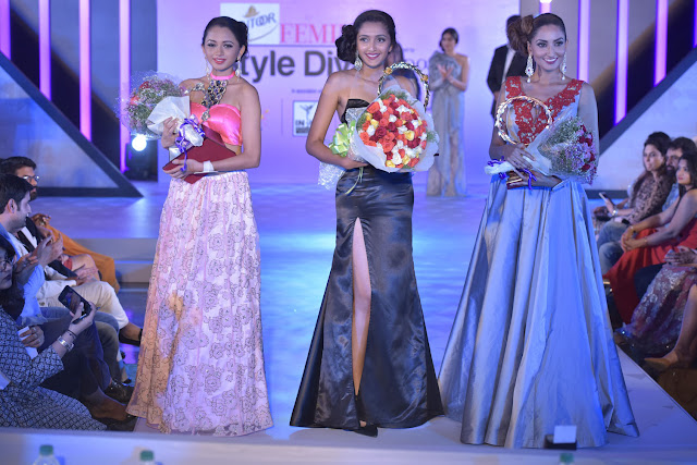 Presenting our winners - First runner up Bhavana Sreepad, Santoor Femina Style Diva South 2017 Ashna Gurav, Second runner up Anookya Harish
