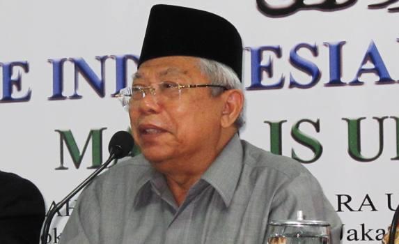 KH Ma'ruf Amin: MUI tidak Mendukung Demontrasi