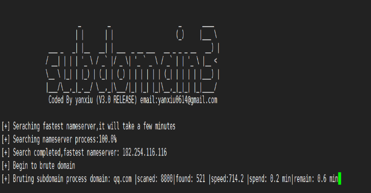 SubDomain3: A New Generation Tool For Discovering Subdomains