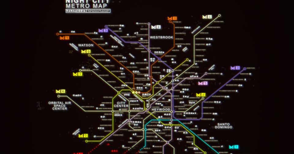 Cyberpunk 2077 Subway Map.The Wertzone Cd Projekt Spill The Beans On Cyberpunk 2077