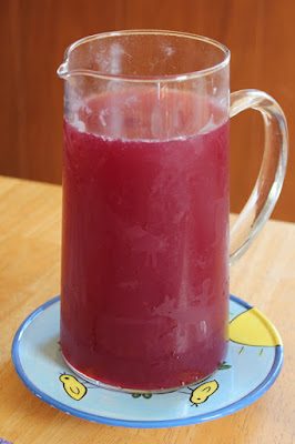vegan easter, pomegranate limeade