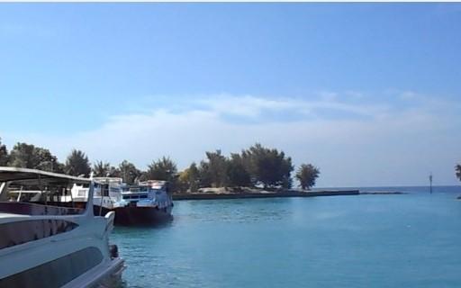 pemandangan di dermaga pulau tidung