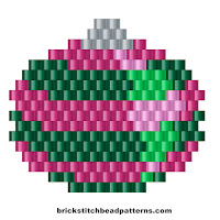 Free brick stitch seed bead weaving pattern charts