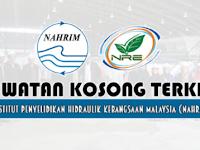 Jawatan Kosong Terkini Institut Penyelidikan Hidraulik Kebangsaan Malaysia (NAHRIM) | Tarikh Tutup: 21 Jun 2019