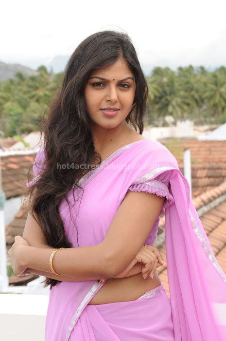 Monal gajjar in saree in vanavarayan vallavarayan movie