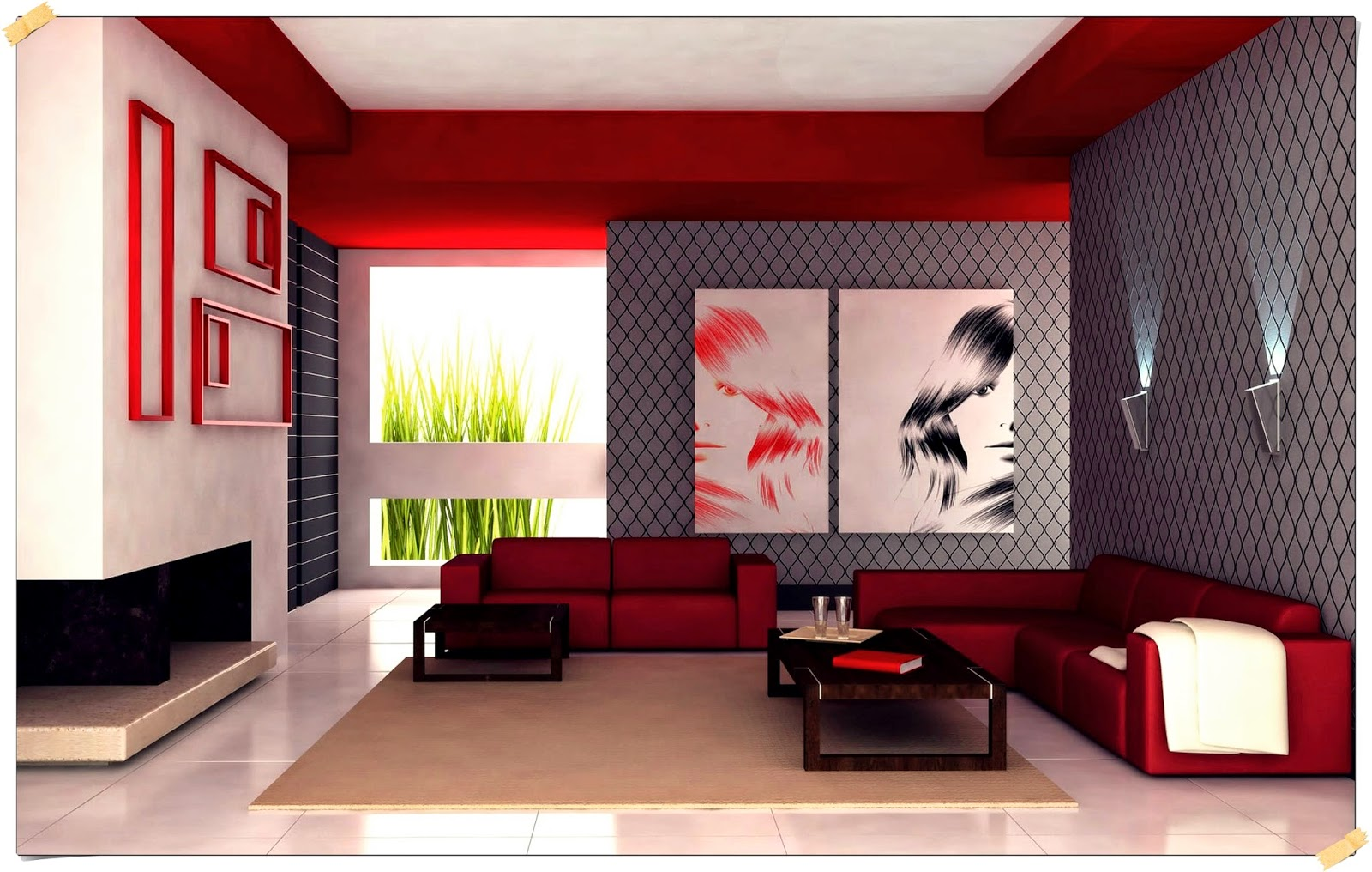 Home Decoration And Interior Design Ideas Small Living Room Design Ideas Taking Grey And Red Interior Scheme