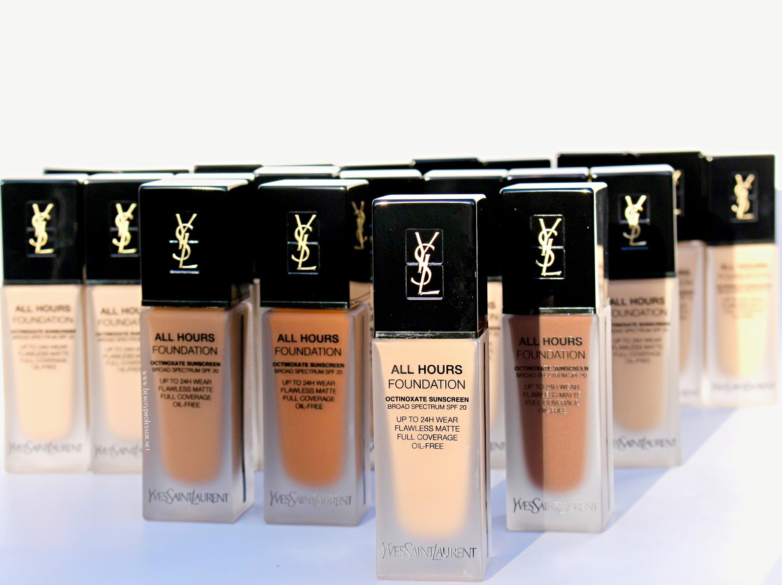YSL All hours foundation swatches