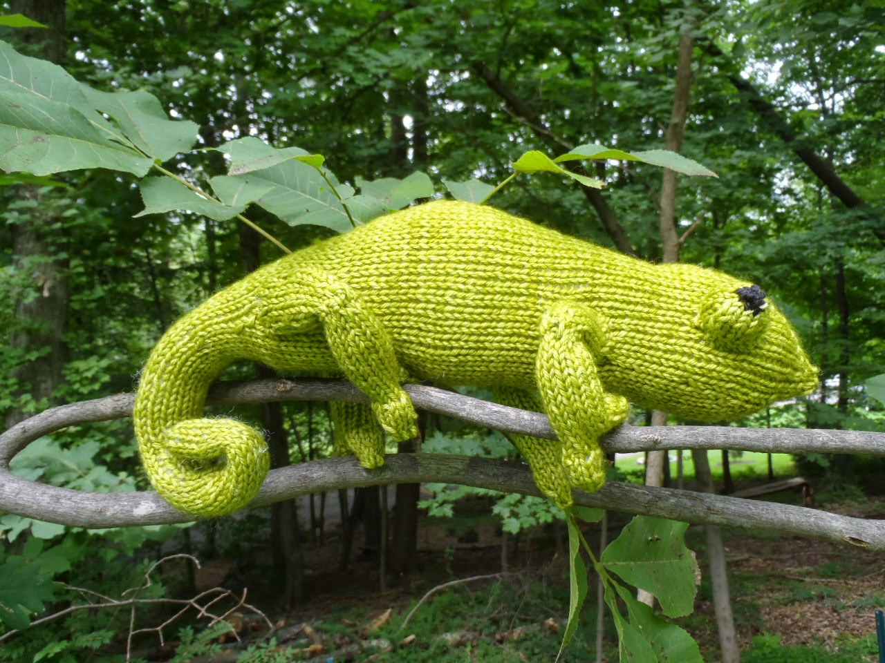 Stana's Critters Etc.: Knitting Pattern for Chameleon Leon