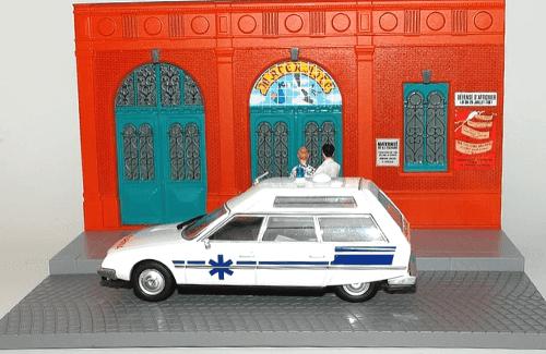 les plus beaux véhicules utilitaires, citroën cx 1:43 ambulance