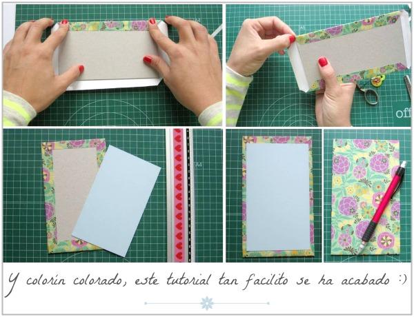 Tapas Decorado Para Cuadernos Con Papel Contac