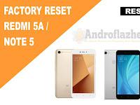 Cara Reset / Factory Reset Xiaomi Redmi 5A dan Redmi Note 5A Terbaru