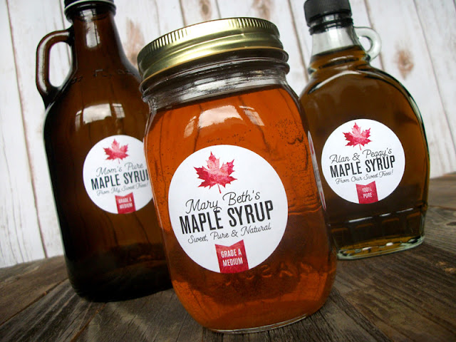 custom maple syrup labels
