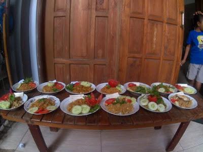 Hasil masakan Nasi Goreng