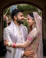 virat kohli with har wife anushka sharma