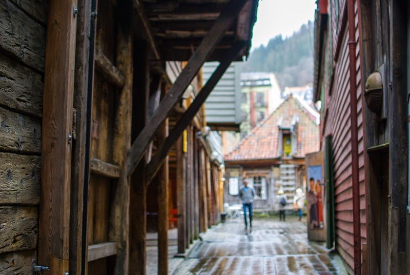 old wooden houses image of bergen bryggen
