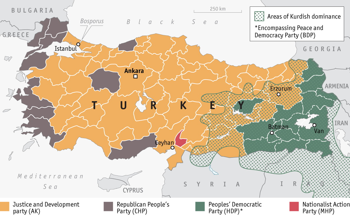 Results of the last Turkish elections (2015)