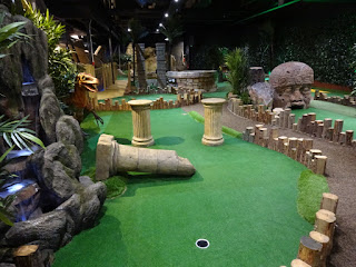 The Jungle Explorers course at Mr Mulligans Lost World Adventure Golf in Stevenage