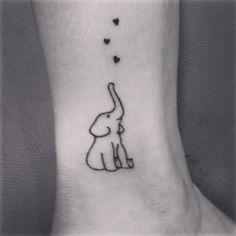 Elefante com Tatuagem de Coração