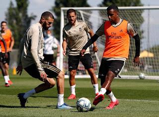 El trabajo fisico y con balón marcaron la pauta del entrenamiento de hoy