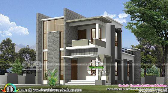 3 bedroom double storied modern house