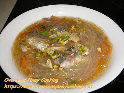 Pink Salmon Sotanghon Noodle Soup Recipe