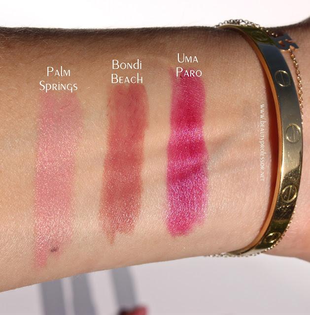 le metier de beaute lipstick swatches