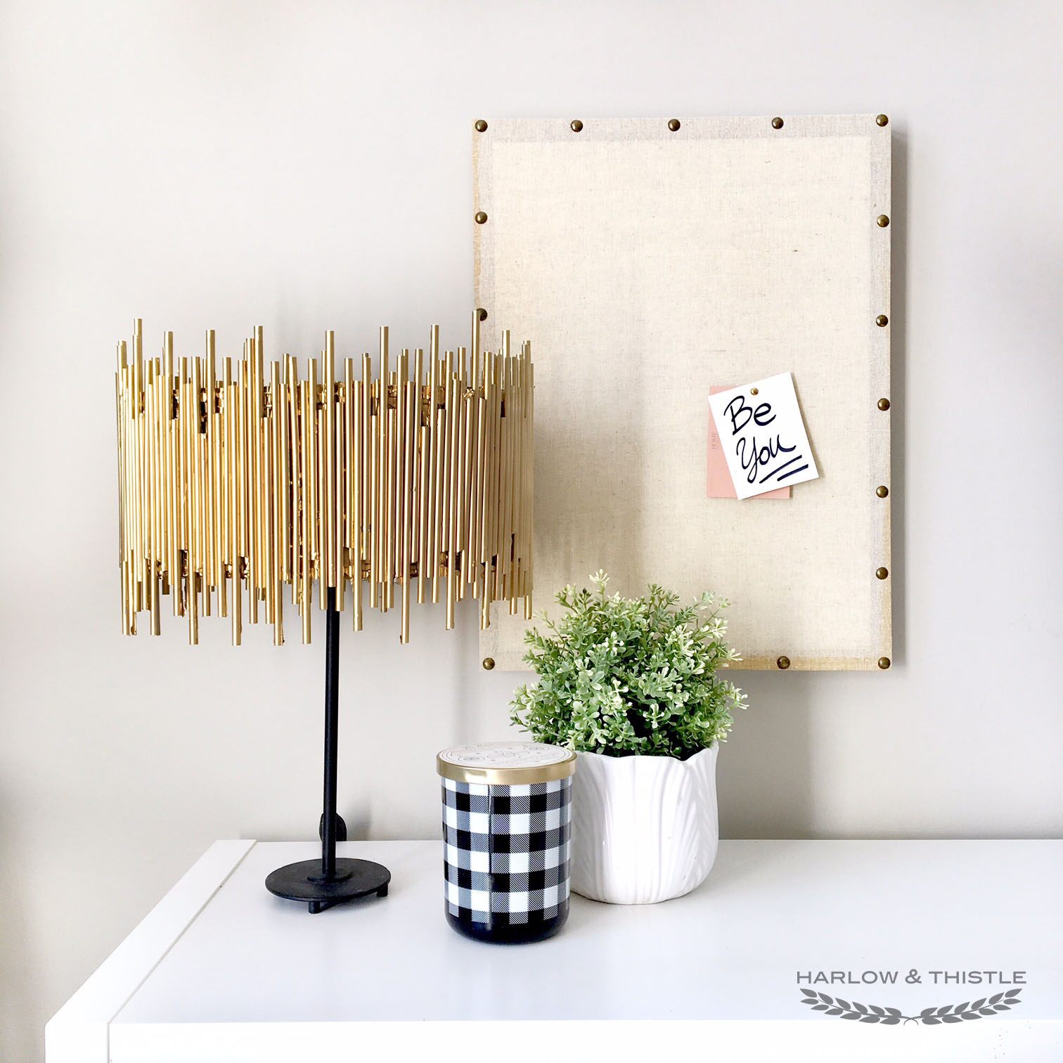 DIY Gold Chandelier Anthropologie hack 1