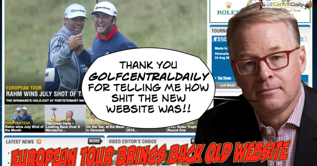 GolfCentralDaily: Keith Pelley Finally Goes To SpecSavers And Brings Back Old European Tour Site