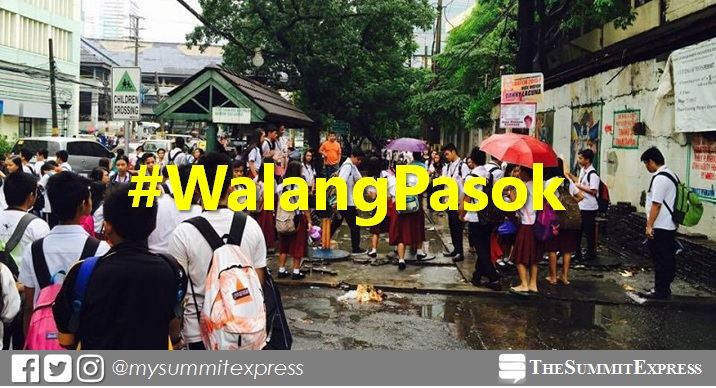 #WalangPasok: Class suspensions on Thursday, June 14, 2018