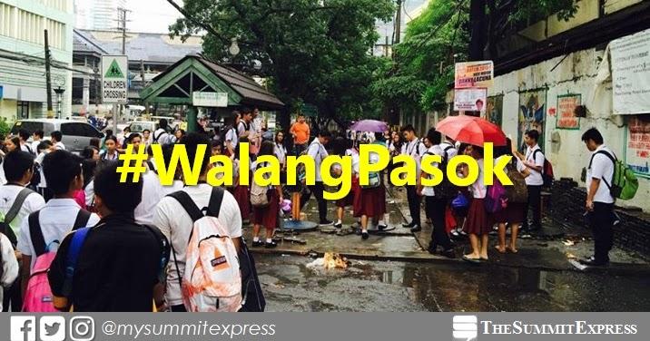 #WalangPasok: Class suspensions on Thursday, June 14, 2018 ...