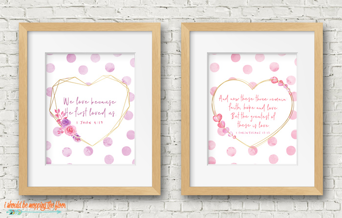 Free Valentine's Day Bible Verse Printables