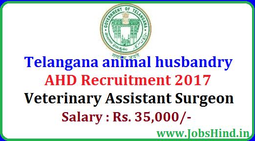Telangana Animal Husbandry Recruitment 2017