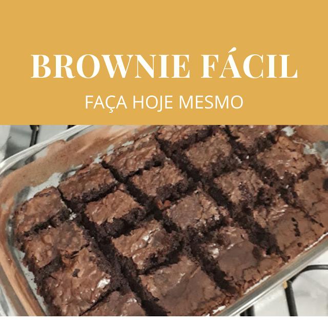 Receita de Brownie fácil e gostoso