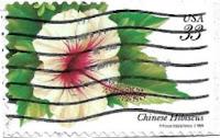 Selo Flor do hibisco chinês