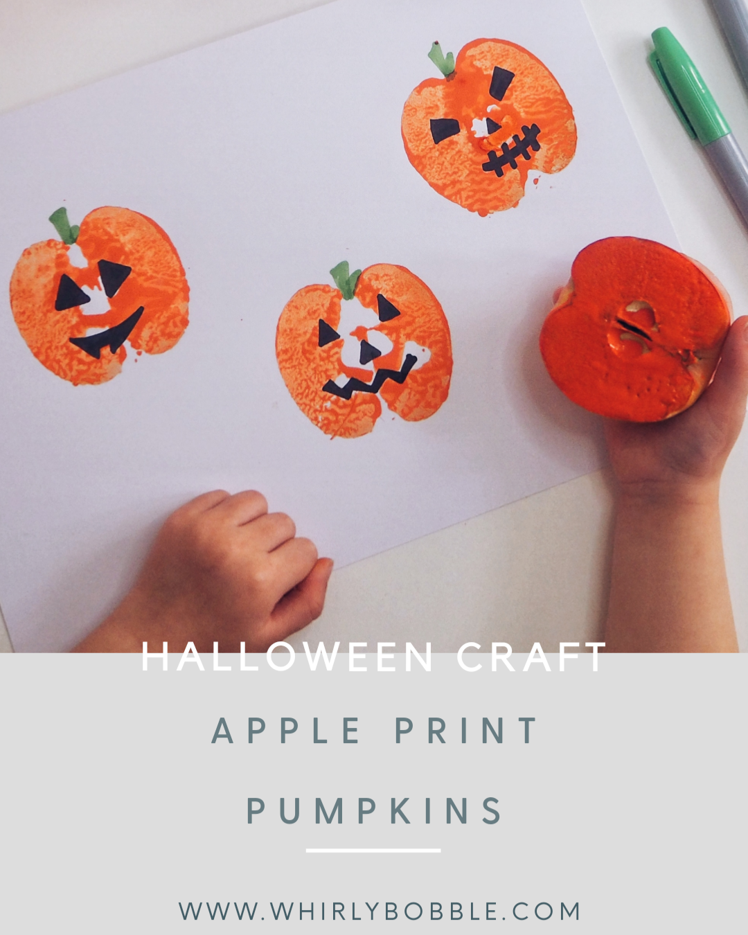 Kids halloween pumpkin craft
