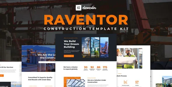 Best Construction and Architecture Elementor Template Kit