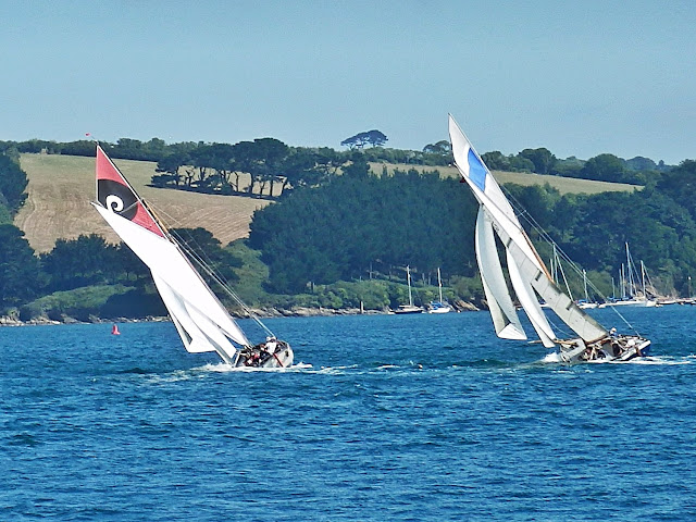 Racing dredging boats at St.Mawes, Cornwall