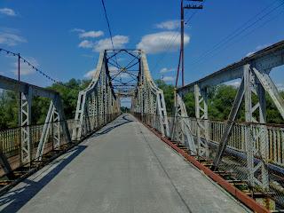 Галич. Пешеходный мост через Днестр
