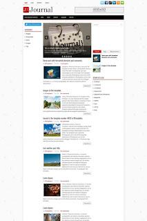 journal blogger template